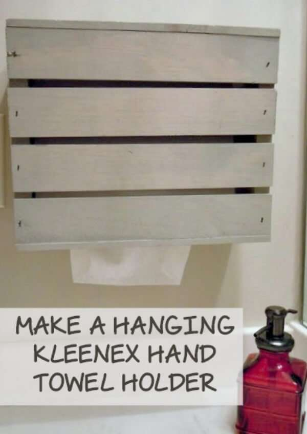 How to make a Kleenex hand towel holder - Miss Information