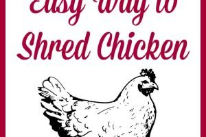 The Easiest Way to Shred Chicken