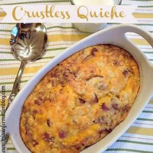 Bacon and Onion Crust-less Quiche