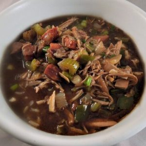 Our favorite Turkey Gumbo recipe make with Thanksgiving leftovers