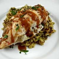 recipeblogswap-Mushroom-Goat-Cheese-Stuffed-Chicken-with-Pan-Sauce.-Mushroom-Wild-Rice-1024x768