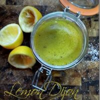 Dressing Recipes : Homemade Lemon Dijon