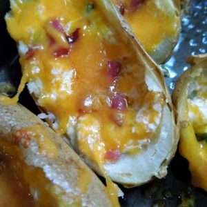 It's the yumminess of a jalapeno popper in a potato skin! Not to hot and so yummy