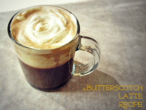 Hot butterscotch latte and Over 40 fall drink recipes including cocoas, ciders and cocktails