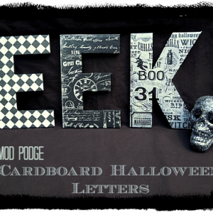 Mod Podge_Halloween_cardboard_letters_decor_decorations_decor_crafts