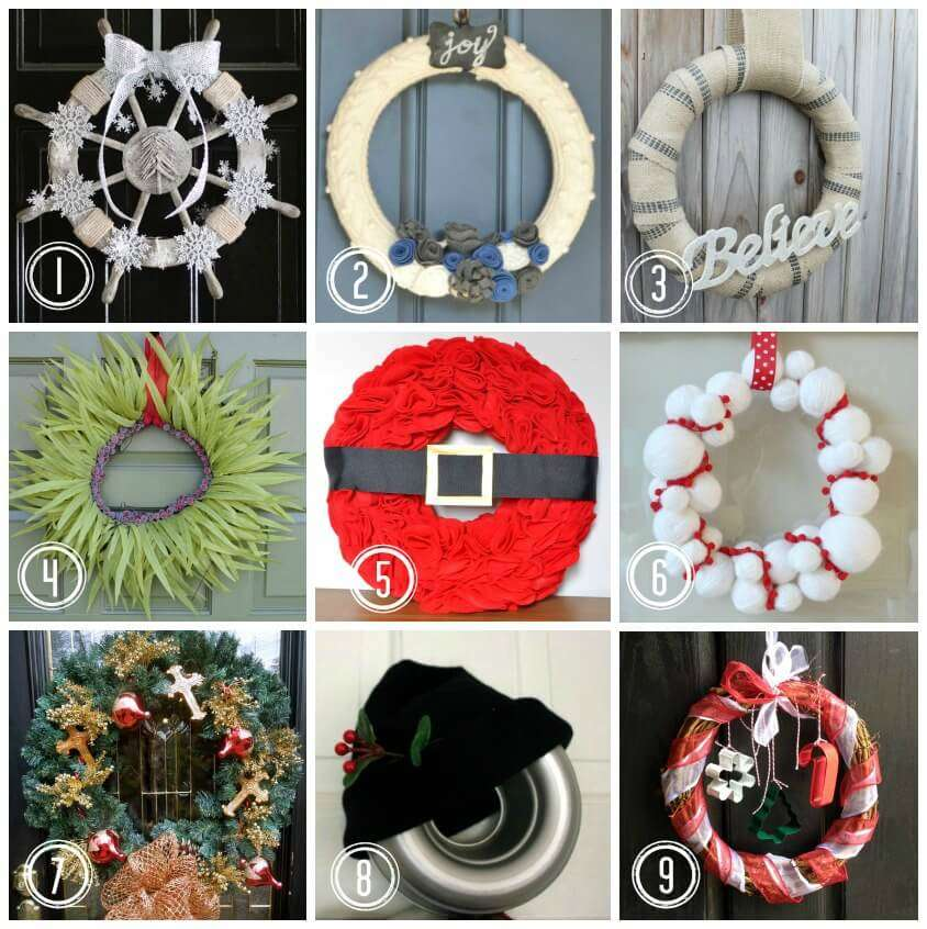How to make a traditional christmas wreath miss information - Awesome christmas wreath with homemade style ...