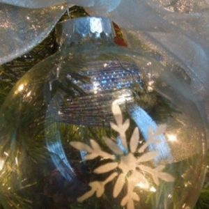 Easy Ornaments Using Glass Etching Cream