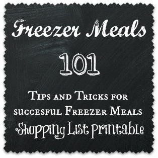 Freezer Meals 101 includes a Free Printable Shopping list