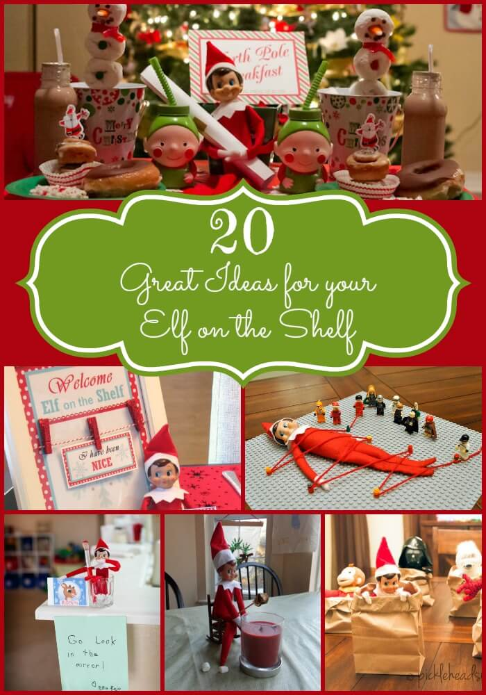 20 Great Elf on the Shelf Ideas to get you started on your holiday antics