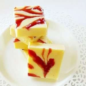 White Chocolate and Raspberry Fudge