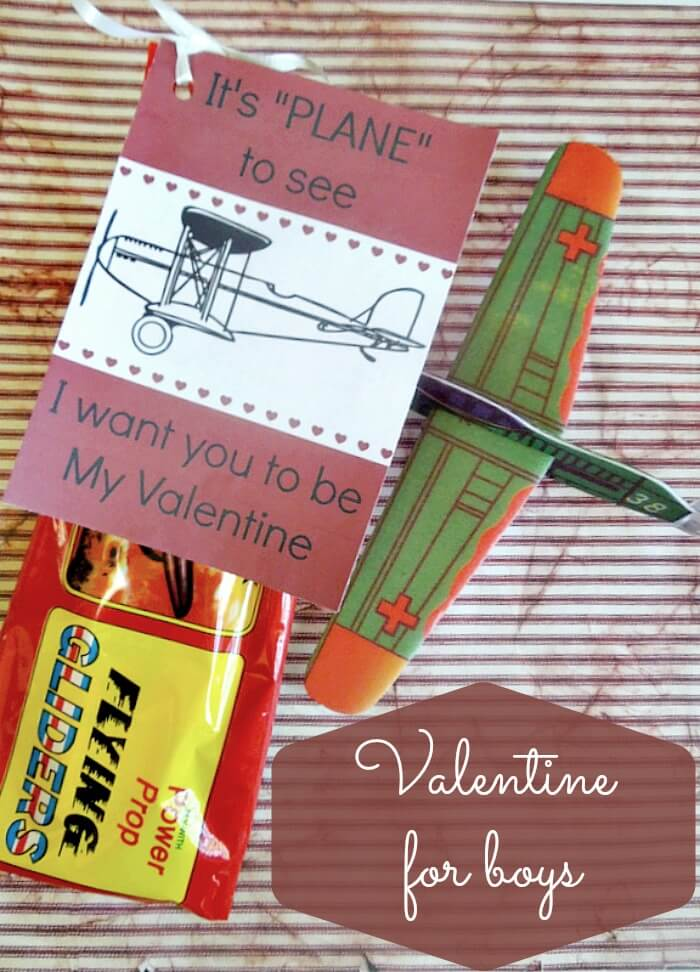 Free printable airplane valentines cards, a valentine perfect for boys