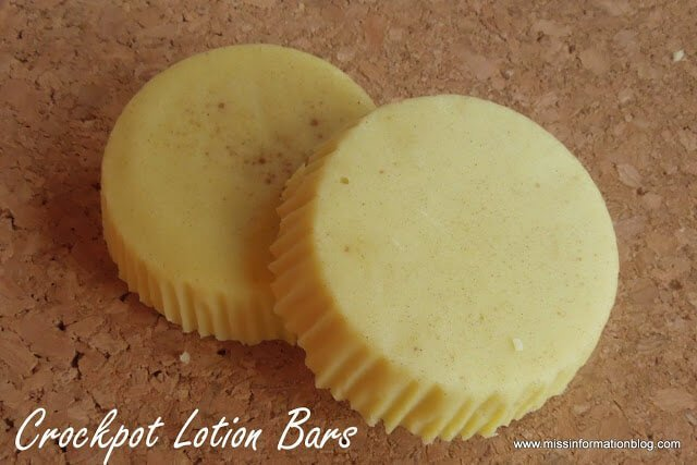 Slow Cooker Lotion Bars - Make your own Lush Lotion Bars in your slow cooker! Easy and makes great gifts