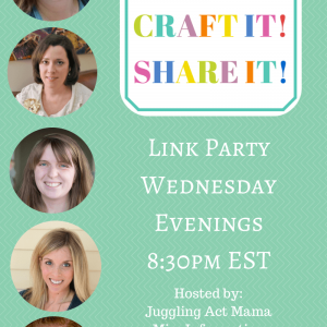 Join us every wednesday at 8:30 pm for our link party - We want your recipes, crafts, DIY and advice posts! Share it all on 5 Fab Blogs