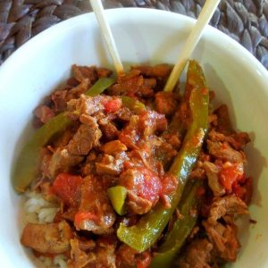 Slow cooker pepper steak - a family favorite and so easy this way, your house will smell AMAZING