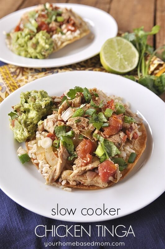 Slow Cooker Tinga Tacos Featured at Cook it! Craft it! Share it!