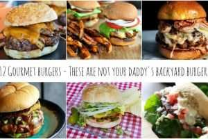 12 Gourmet Burger Recipes including turkey, seafood, beef and a burger bar! It's not your daddy's backyard burger and they are all amazing! Pin it to Grill it!