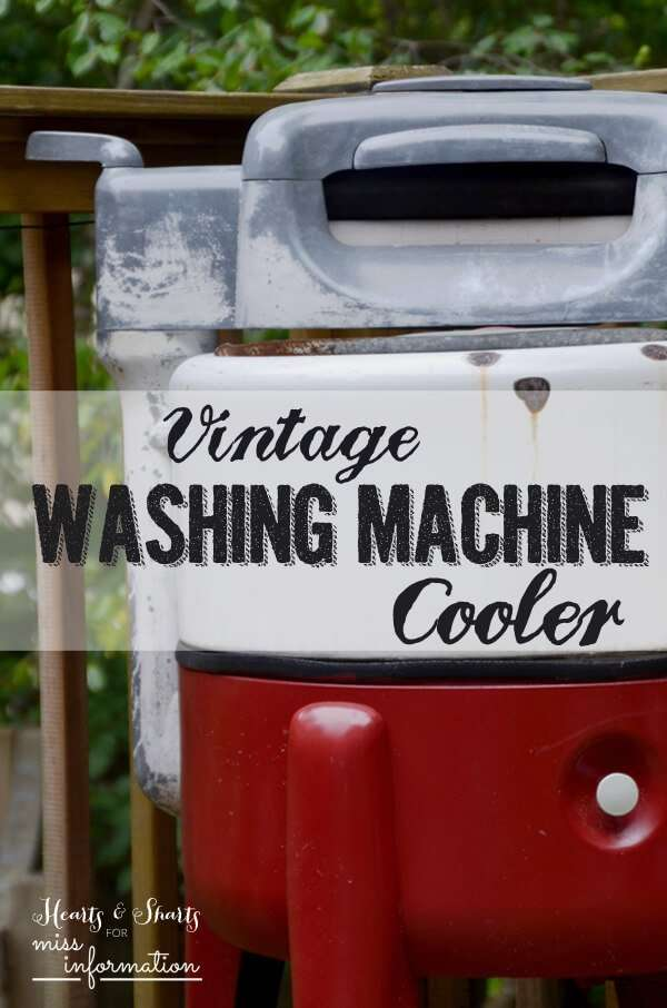 Vintage washing machine turned beverage cooler miss information - Interesting facts about washing machines ...
