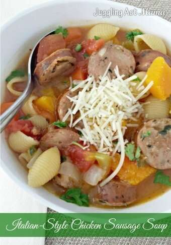 Italian Style Chicken Sausage Soup 340
