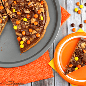 Loaded Peanut Butter Cookie Pizza
