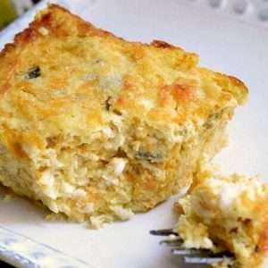 Green Chili and Cheese Breakfast Casserole
