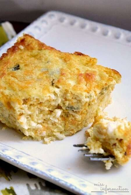 corn green chile egg and cheese casserole vegetarian egg cheese green ...