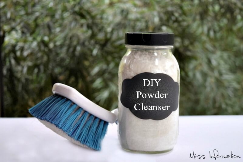 All Natural Diy Powdered Cleanser Recipe Essential Oils