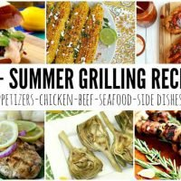 55 of the best recipes for summer grilling including appetizers, entrees, desserts, BBQ sauces and more!