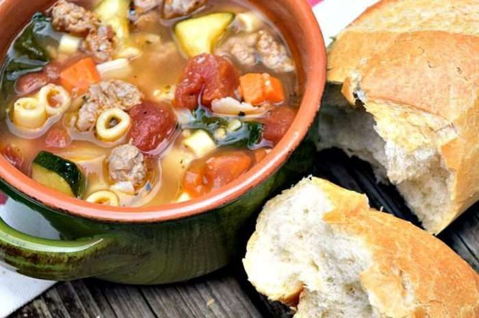 Recipe for Minestrone Soup with Sausage