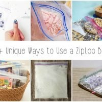 15 Unique Ways to Use Ziploc sandwich bags! Includes organization, packing tips, kitchen uses and DIY nail decals