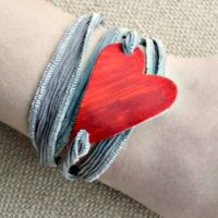 Shrinky Dinks Jewelry How to Make a Heart Wrap Bracelet