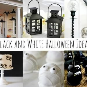 Black and White Halloween Decorations