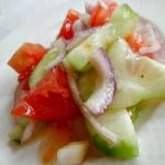 Old Fashioned Cucumber Salad - this quick salad is a perfect side dish for any meal
