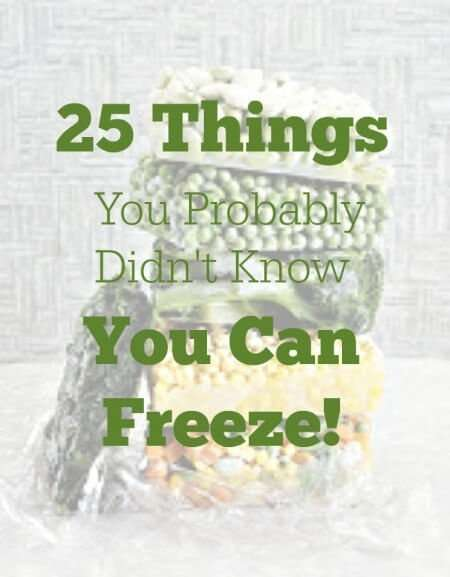 25 things you probably didn't know you can freeze!