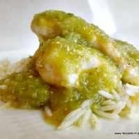 Easy salsa verde talapia just 3 ingredients adn sooooo good!