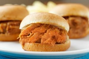 Crockpot Buffalo Chicken Sliders