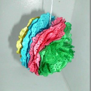 How to Make Paper Poms from Doilies