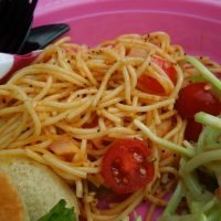 Easy Spaghetti Salad, perfect as a light summer side dish
