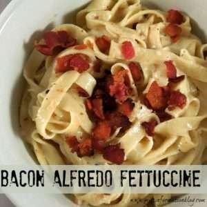 Bacon Fettuccine Alfredo