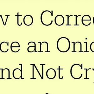 How to Dice and Cut Onions Without Crying