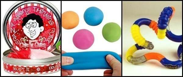 A great list of Christmas Gifts for Children with ADHD and Sensory Processing Disorder including stocking stuffers, games and more