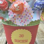 Milestone Birthday Sucker Gift