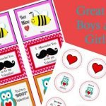 Free Printable Valentine Cards and Cupcake Toppers