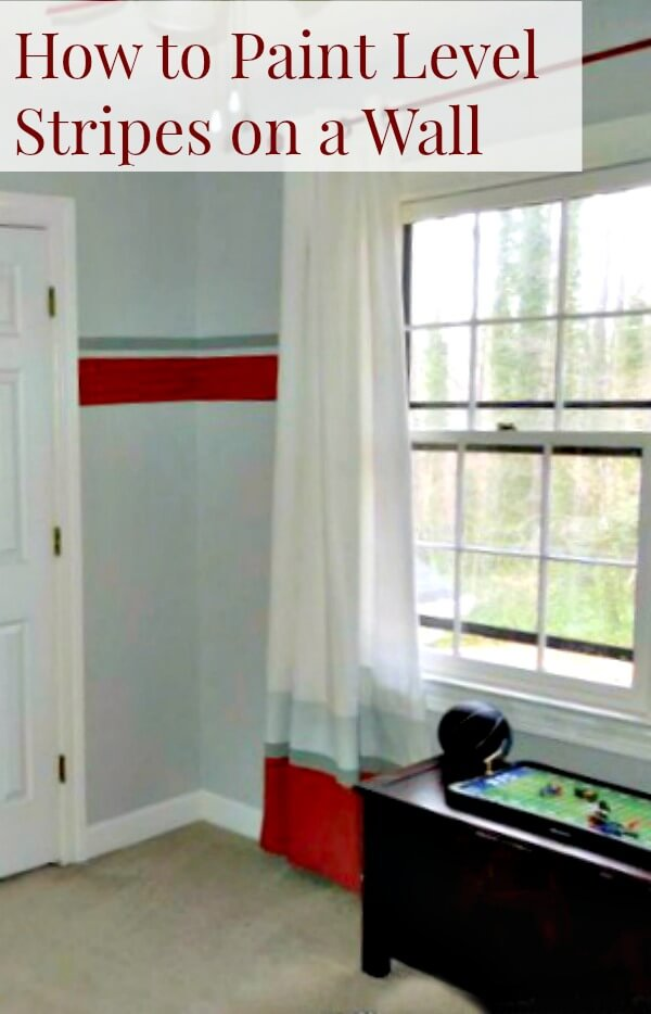 How To Paint Stripes On A Wall With Less Drips And Get Them Level