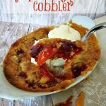 Easy Peach Cobbler with Raspberry