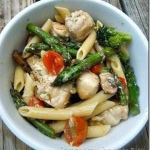 Healthy chicken and pasta recipe