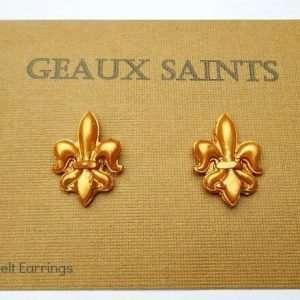 Mod Melts: New Orleans Saints Earrings