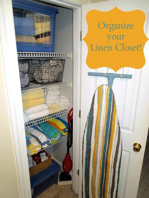 Organize your Linen closet or kids closets with these great drop front totes
