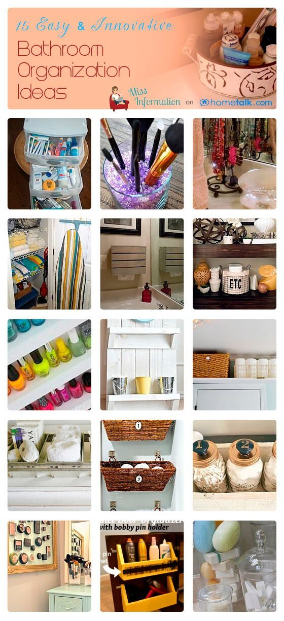 15 Innovative Bathroom Organization Ideas - Miss Information