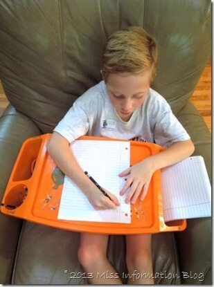 Homework Lap Desk that can move from Room to Room / Miss Information Blog/ #backtoschoolweek #organization #homework station