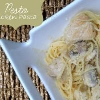 Creamy chicken and pesto pasta a quick family pleaser